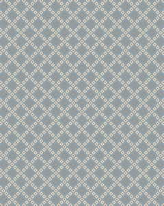 Lattice Squares Porcelain Blue Living Room Wool Area Rug - TulipFiesta - 3