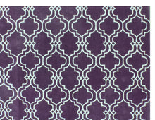 Load image into Gallery viewer, Moroccan Scroll Tile Purple Handmade Persian Style Wool Area Rug - TulipFiesta - 1