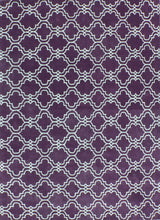 Load image into Gallery viewer, Moroccan Scroll Tile Purple Handmade Persian Style Wool Area Rug - TulipFiesta - 4