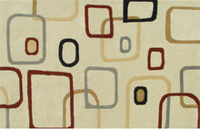 Load image into Gallery viewer, Beige Multi Color Contemporary Style Woolen Area Rug - TulipFiesta - 2