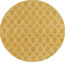 Load image into Gallery viewer, Moroccan Scroll Tile Yellow Handmade Persian Style Wool Area Rug - TulipFiesta - 2
