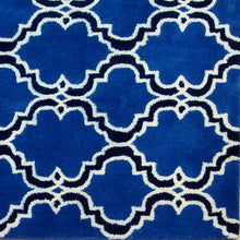 Load image into Gallery viewer, Moroccan Scroll Tile Indigo Handmade Persian Style Wool Area Rug - TulipFiesta - 1