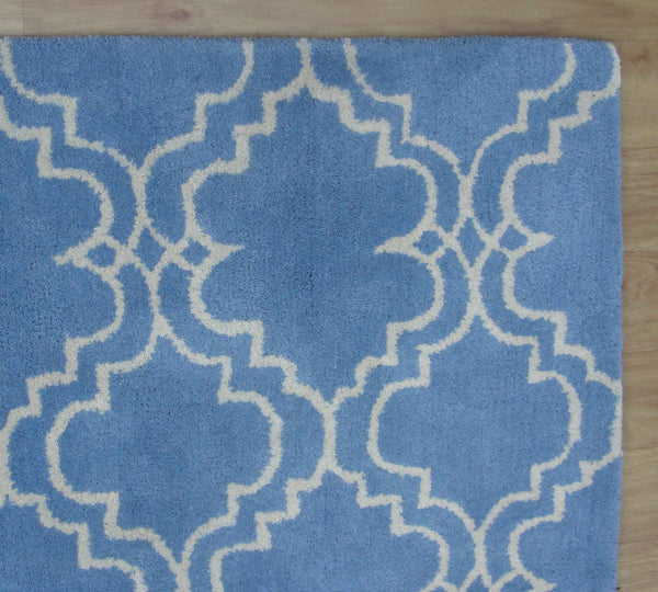 Moroccan Scroll Tile Light Blue Handmade Persian Style