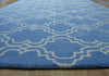 Moroccan Scroll Tile Light Blue Handmade Persian Style Wool Area Rug - TulipFiesta - 2
