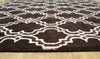 Moroccan Scroll Tile Brown Handmade Persian Style Wool Area Rug - TulipFiesta - 3