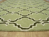 Moroccan Scroll Tile Green/Dk Green Persian Style Wool Area Rug - TulipFiesta - 2