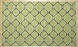Moroccan Scroll Tile Green/Dk Green Persian Style Wool Area Rug - TulipFiesta - 3