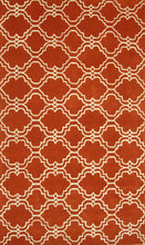 Load image into Gallery viewer, Moroccan Scroll Tile Orange Handmade Persian Style Wool Area Rug - TulipFiesta - 2