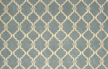 Load image into Gallery viewer, Moroccan Scroll Tile Gray/Porcelain Blue Persian Style Wool Area Rug - TulipFiesta - 2