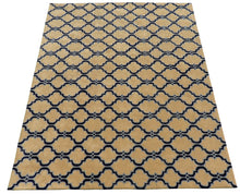 Load image into Gallery viewer, Moroccan Scroll Tile Taupe Handmade Persian Style Woolen Area Rug - TulipFiesta - 2
