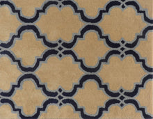 Load image into Gallery viewer, Moroccan Scroll Tile Taupe Handmade Persian Style Woolen Area Rug - TulipFiesta - 1
