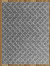 Load image into Gallery viewer, Lattice Squares Gray Contemporary Living Room Woolen Area Rug 8 x 10 - TulipFiesta - 2