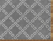 Load image into Gallery viewer, Lattice Squares Gray Contemporary Living Room Woolen Area Rug 8 x 10 - TulipFiesta - 1