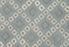Lattice Squares Porcelain Blue Living Room Wool Area Rug - TulipFiesta - 2