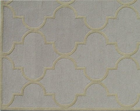 Blair Scroll Stone Wheat Handmade Persian Style Woolen Area Rug Carpet - TulipFiesta - 1