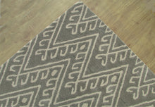 Load image into Gallery viewer, Chevron Hook Gray Handmade Persian Wool Area Rug - TulipFiesta - 3