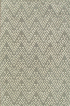 Load image into Gallery viewer, Chevron Hook Gray Handmade Persian Wool Area Rug - TulipFiesta - 4