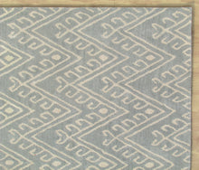 Load image into Gallery viewer, Chevron Hook Porcelain Blue Handmade Persian Wool Area Rug - TulipFiesta - 1