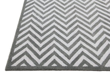 Load image into Gallery viewer, New Chevron Zig Zag Grey Handmade Persian Style Woolen Area Rug
