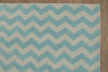 Chevron Zig Zag Green Color Hand Tufted Modern Style Woolen Area Rug