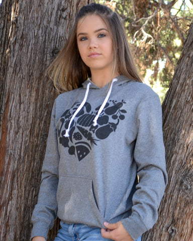 Food Heart Pullover Hoodie - EAT Healthy Designs  - 1