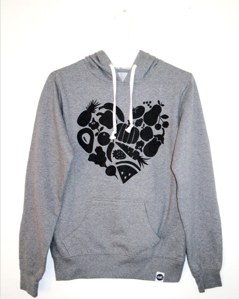 Food Heart Pullover Hoodie - EAT Healthy Designs  - 2