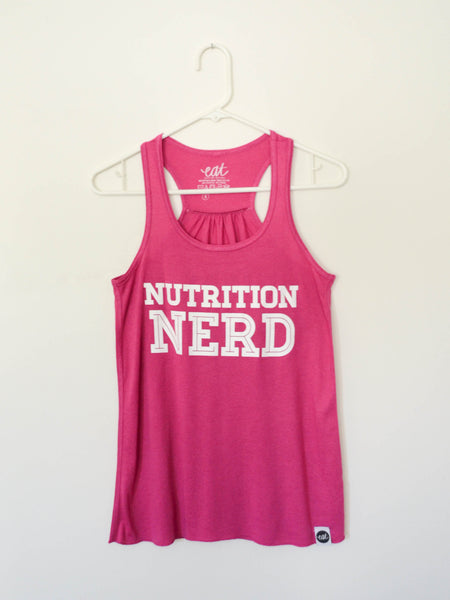Pink Nutrition Nerd Tank - EAT Healthy Designs  - 2