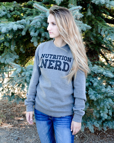 Nutrition Nerd Sweatshirt - EAT Healthy Designs  - 1