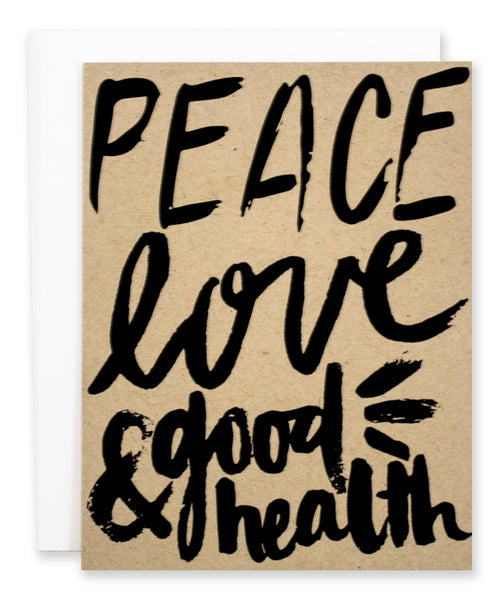 Peace, Love, & Good Health - EAT Healthy Designs  - 1