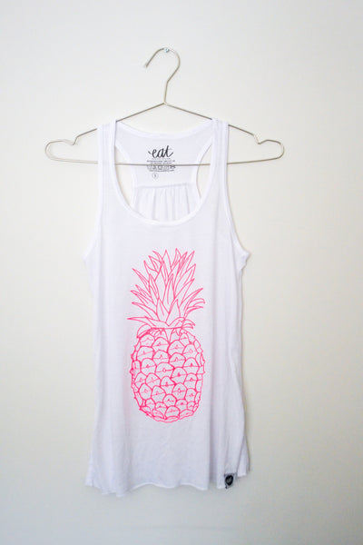 Hot Pink Pineapple Tank - EAT Healthy Designs  - 2