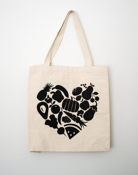 Food Heart Tote Bag - EAT Healthy Designs