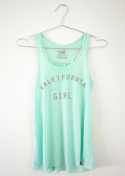 Kaleifornia Girl Tank - Mint - EAT Healthy Designs  - 2