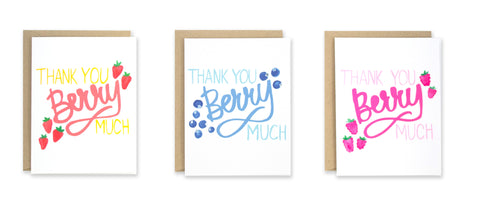 Berry Thank You Note Set - EAT Healthy Designs  - 1