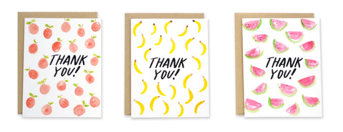 Fruity Thank You Note Set - EAT Healthy Designs  - 1