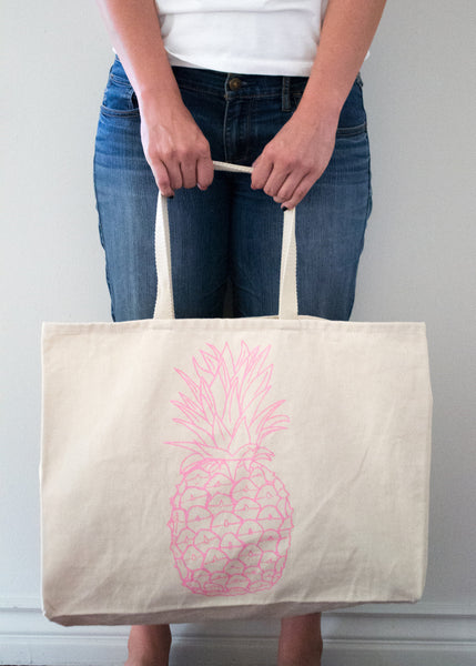 Pineapple Tote Bag - EAT Healthy Designs  - 2