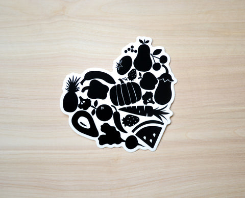 Food Heart Sticker - EAT Healthy Designs