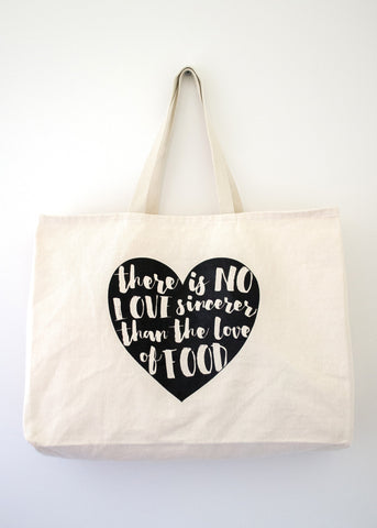 Food Love Tote Bag - EAT Healthy Designs  - 1