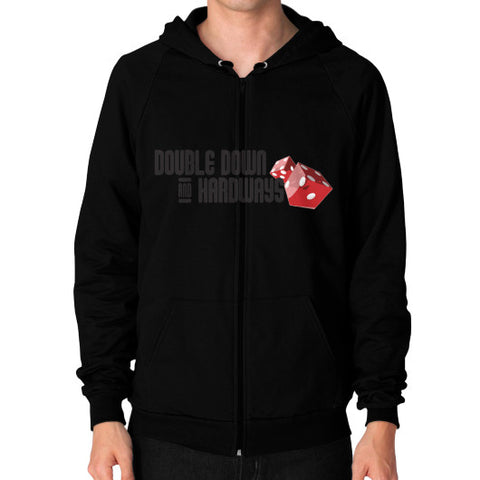 Double Down & Hardways Dice Logo Zip Sweatshirt (Mens)
