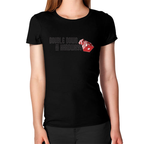 Double Down & Hardways Dice Logo T-Shirt (Womens)