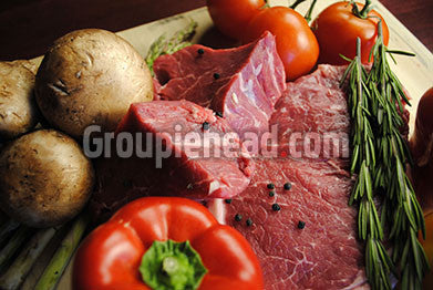 Stock Photography GH01-017 Meat & Vegetables