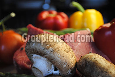 Stock Photography GH01-018 Meat & Vegetables