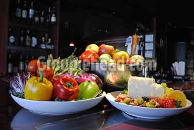 Stock Photography GH01-030 Vegetables, Fruit, Cheese & Olives