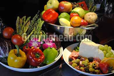 Stock Photography GH01-032 Vegetables, Fruit, Cheese & Olives
