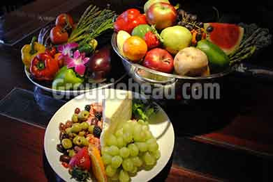 Stock Photography GH01-036 Vegetables, Fruit, Cheese & Olives