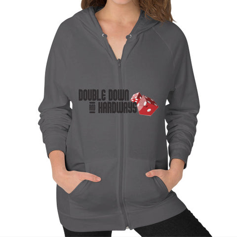 Double Down & Hardways Dice Logo Zip Sweatshirt (Womens)