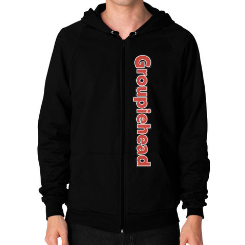 Zip Hoodie (on man) Black GroupieheadShop