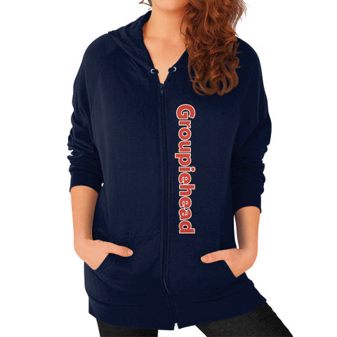 Zip Hoodie (on woman) Navy GroupieheadShop