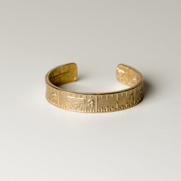 Brass Vintage Craftman Ruler Cuff