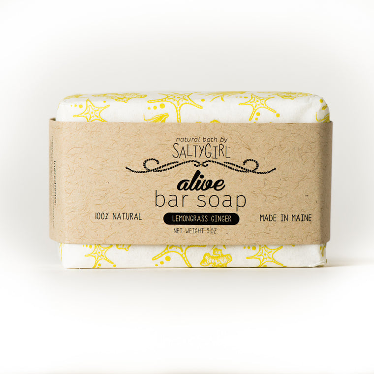 Lemongrass Ginger Salt Bar Soap