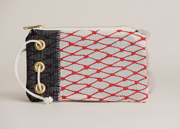 RED & NAVY BAIT BAG WRISTLET